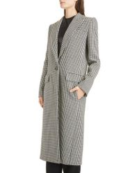 Givenchy - Houndstooth Wool Coat - Lyst