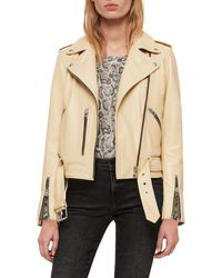 AllSaints - Balfern Leather Biker Jacket - Lyst