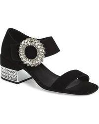 Jeffrey Campbell - Kaylene Crystal Embellished Sandal - Lyst
