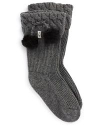 UGG - Ugg Uggpure(tm) Pompom Short Rain Boot Sock - Lyst