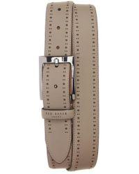 Ted Baker - Havan Brogue Leather Belt - Lyst