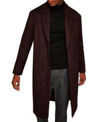 TOPMAN - Hayden Oversize Overcoat - Lyst