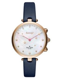 Kate Spade - Holland Hybrid Leather Strap Watch - Lyst