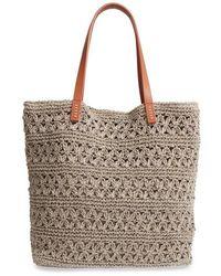 Nordstrom - Packable Raffia Crochet Tote - - Lyst