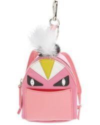 Fendi - 'monster' Genuine Fox & Nutria Fur Trim Backpack Bag Charm - Lyst
