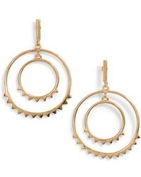 Rebecca Minkoff - Spiked Concentric Hoop Earrings - Lyst