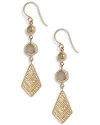 Anna Beck - Linear Drop Earrings - Lyst