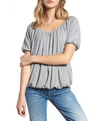 Hinge - Open Neck Pleated Top - Lyst