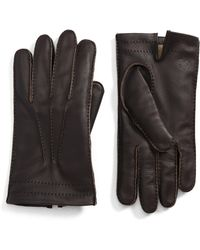 Hickey Freeman - Deerskin Leather Gloves - Lyst