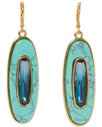 Vince Camuto - Oval Stone Drop Earrings - Lyst