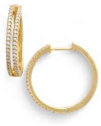Bony Levy - Diamond Split Hoop Earrings (limited Edition) (nordstrom Exclusive) - Lyst