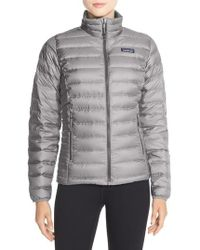 Patagonia - Packable Down Sweater Jacket, Grey - Lyst