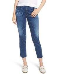 AG Jeans - The Isabelle High Waist Ankle Straight Leg Jeans - Lyst