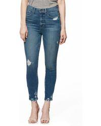 PAIGE - Transcend Vintage - Margot High Waist Crop Skinny Jeans - Lyst
