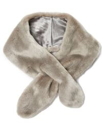 Badgley Mischka | Faux Fur Pull Through Scarf | Lyst
