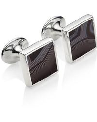 Monica Vinader - Alta Black Onyx Square Cuff Links - Lyst