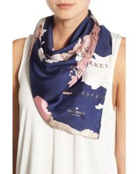 Kate Spade - 'going Places' Silk Scarf - Lyst