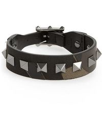 Valentino - Studded Camo Bracelet - Lyst