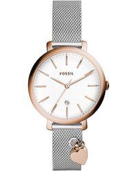 Fossil - Jacqueline Charm Bracelet Watch - Lyst