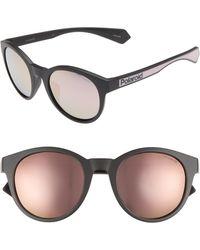 sunglasses Polaroid PLD 6014//S pink dark grey mirrored CYQ//AI