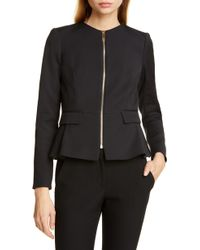 cec3642335027 Lyst - Ted Baker Chaya Neoprene Suit Jacket in Black