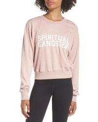 Spiritual Gangster - Varsity Crop Sweatshirt - Lyst