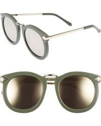Karen Walker 'super Lunar - Arrowed By Karen' 52mm Sunglasses - Khaki/ Gold