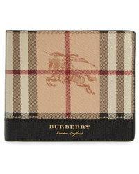 Burberry - Haymarket Check Wallet - Lyst