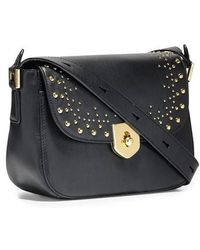 Cole Haan - Mini Marli Studded Leather Saddle Bag - Lyst
