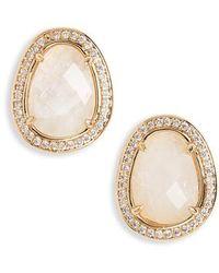 Melanie Auld | Semiprecious Stone Stud Earrings | Lyst