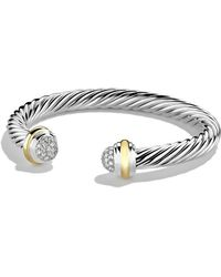 David Yurman - Cable Classics Bracelet With Diamonds And 18k Gold - Lyst