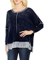 Vince Camuto - Two By Inside Out Printed Sweater - Lyst