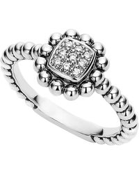 Lagos - Caviar Spark Diamond Square Ring - Lyst