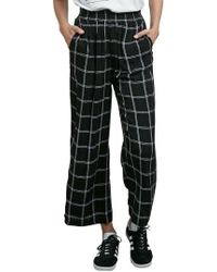 Volcom | Jumponit Windowpane Crop Trousers | Lyst