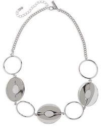 TOPSHOP - Circle 3 Disc Bracelet - Lyst