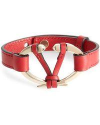 Valentino - Rockstud V Leather Bracelet - Lyst