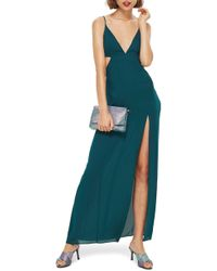 TOPSHOP - Cutout Side Maxi Dress - Lyst