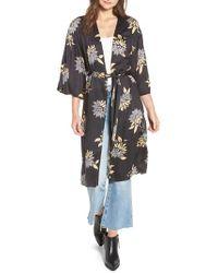 Amuse Society - Let's Unwind Floral Print Kimono - Lyst
