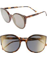 192ec9e8527 Lyst - Sonix Preston 51mm Gradient Round Sunglasses in Metallic