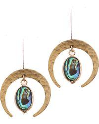 Nakamol - Half Moon Abalone Drop Earrings - Lyst