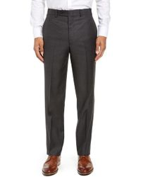 John W. Nordstrom - John W. Nordstrom Torino Traditional Fit Flat Front Solid Wool Trousers - Lyst
