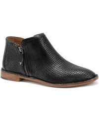 Trask - Addison Low Perforated Bootie - Lyst