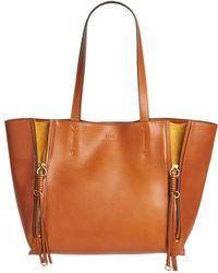 Chloé - Chloé Medium Milo Calfskin Leather Tote - - Lyst