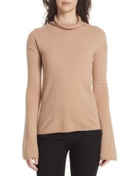 Theory - Cashmere Funnel Neck Sweater - Lyst