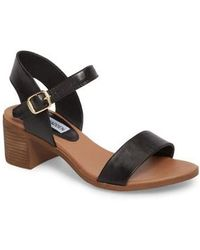 Steve Madden - April Block Heel Sandal - Lyst