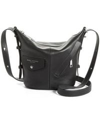 Marc Jacobs - The Mini Sling Convertible Leather Hobo - Lyst