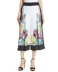 Ted Baker - Tranquility Wide Leg Crop Pants - Lyst