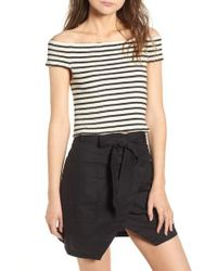 BISHOP AND YOUNG - Bishop + Young Stripe Off The Shoulder Top - Lyst