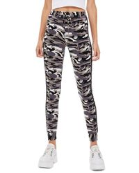 TOPSHOP - Skinny Camouflage Jogger Pants - Lyst