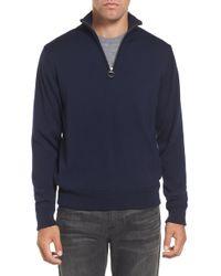 Barbour - Gamlin Quarter Zip Wool Pullover - Lyst